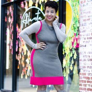 Eliza J Color Block Sweater Dress